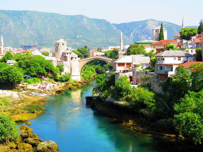Symbolträchtige Brücke von Mostar.
