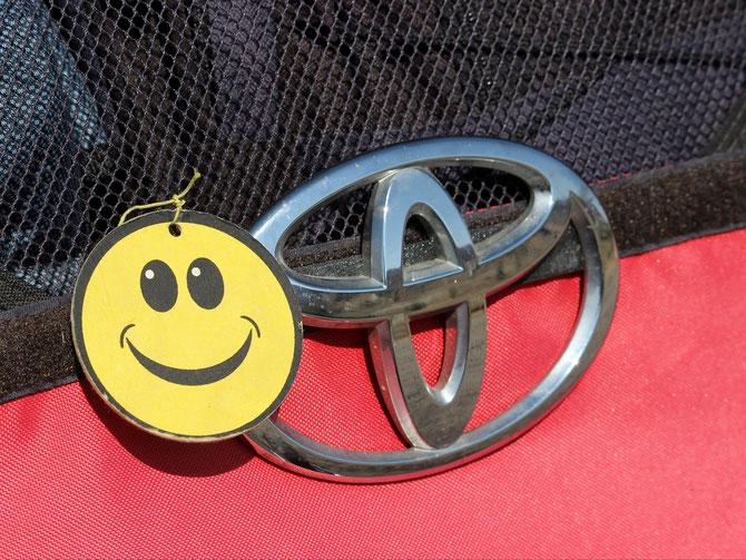 Smiley bleibt symbolisch bei Toyota