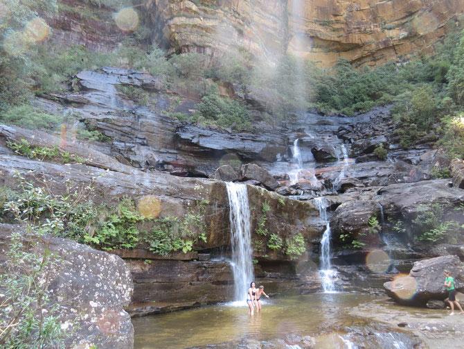 Wasserfall bei den Schwestern