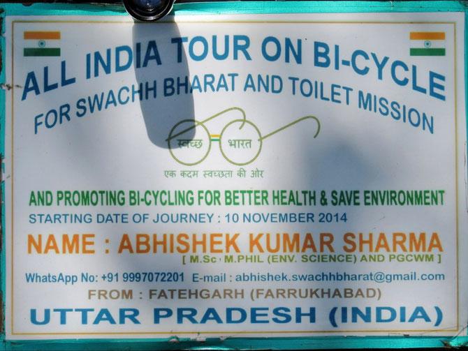Seine Werbung am Fahrrad