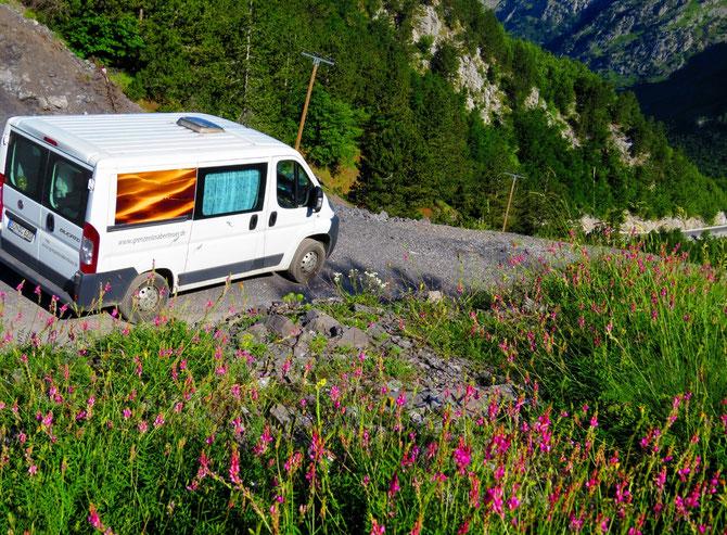 In den albanischen Bergen. Abenteuer pur!