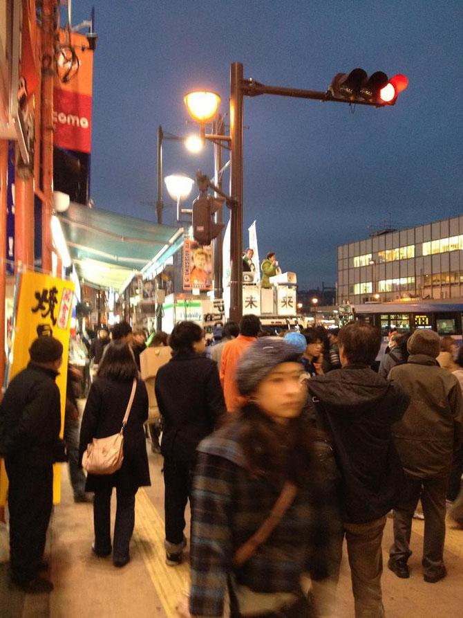 2012年12月15日 大宮駅東口 藤島利久候補と嘉田由紀子代表の演説