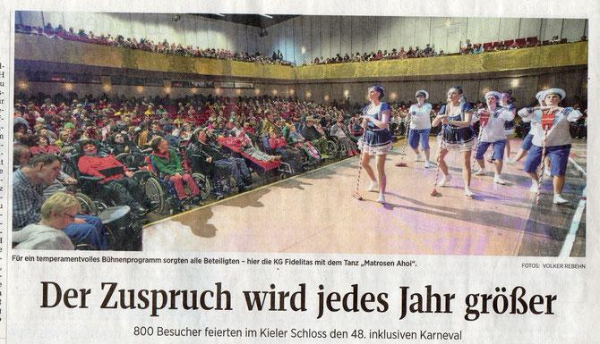 Foto aus der Kieler Nachrichten vom 11.02.