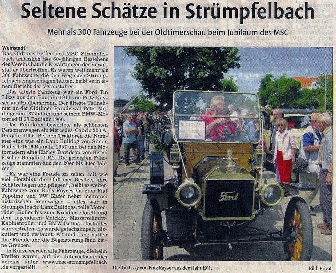 Zeitungsartikel vom 02.07.13 Waiblinger Kreiszeitung