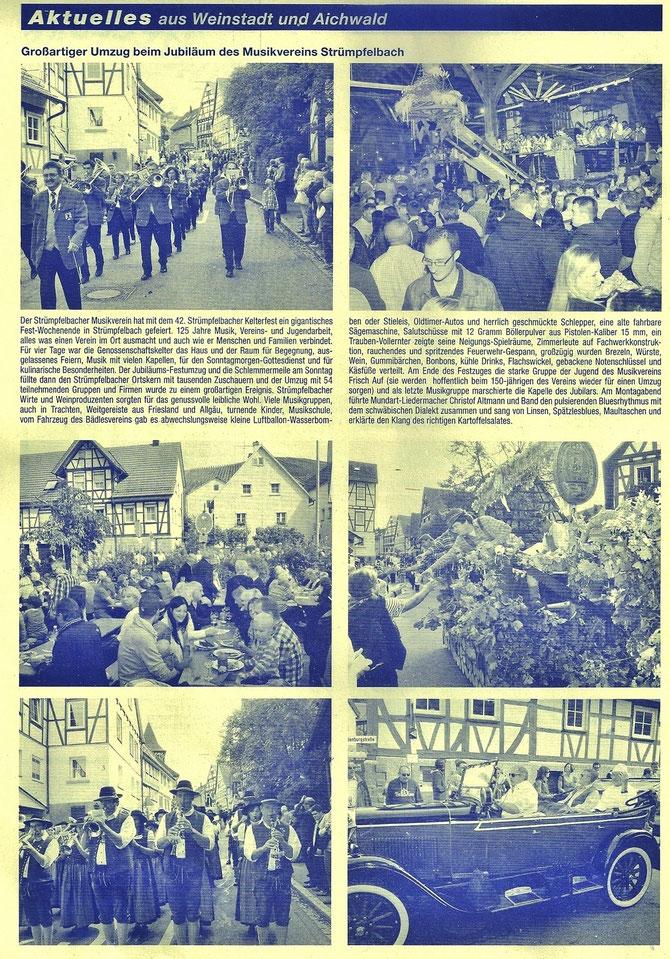 Zeitungsartikel im Blättle vom 31.09.2013 Das Bild rechts zeigt Herrn Reinmuth und zwei unserer Ehrenmitglieder, Winfried Heubach und Karl Kaiser