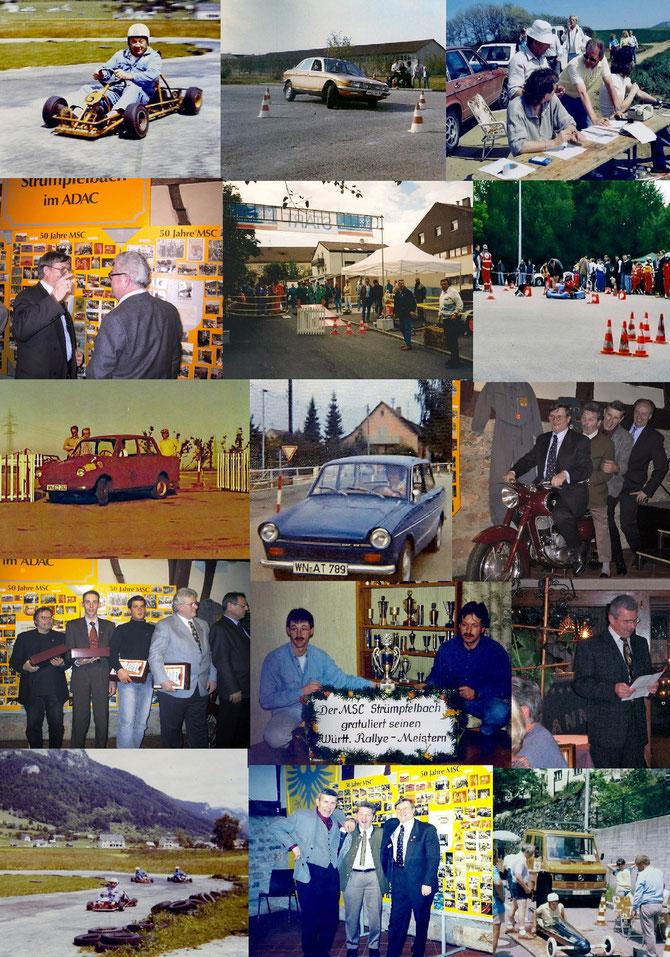 Bilder MSC Strümpfelbach, zum vergrößern der Collage einfach in das Bild klicken