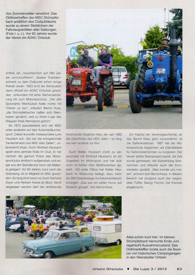 Neuer Artikel aus der ADAC Lupe vom Oktober 2013
