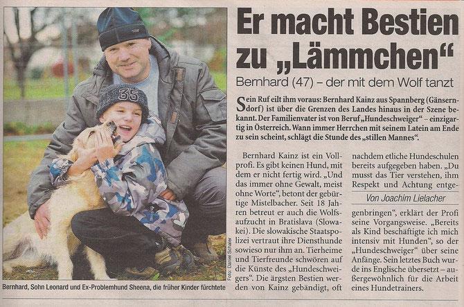 Heute 20.12.2011 - Bernhard Kainz macht Bestie zu Schmusehund