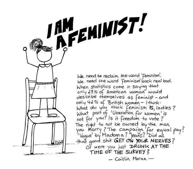 Feminism Chair CaitlinMoran Howtobeawoman Feminist Maldocheinschiff