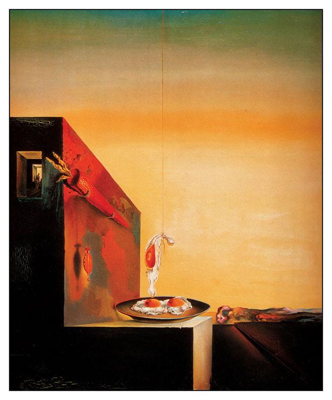 「皿のない皿の上の卵」(1932年)