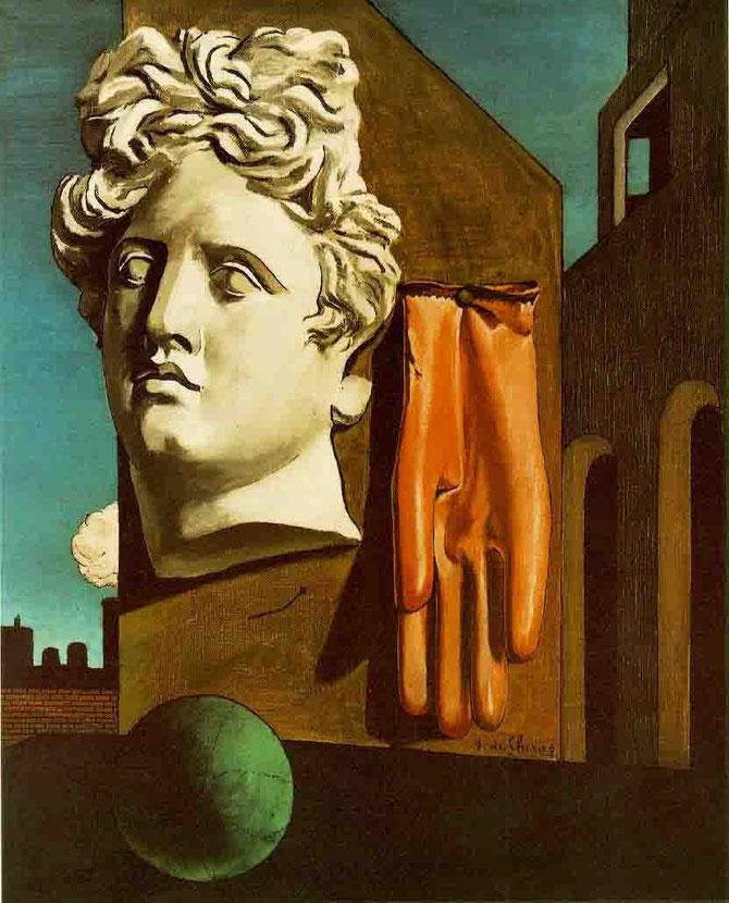 ジョルジョ・デ・キリコ「愛の歌」(1914年)