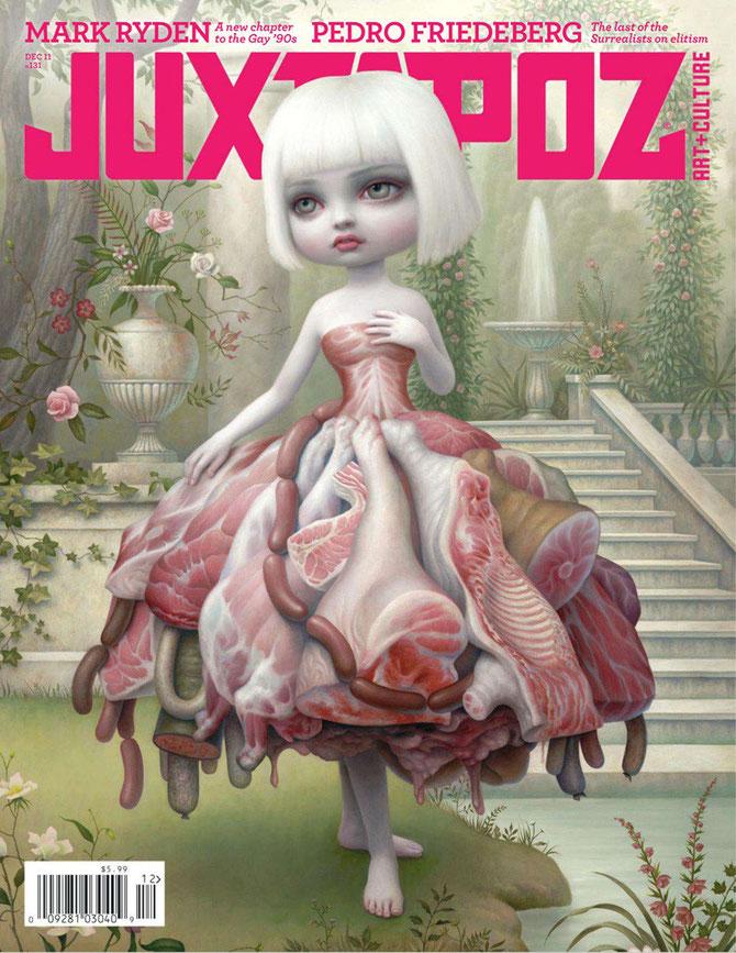 マーク・ライデンは「Juxtapoz」で取り上げらたのが、ロウブロウ・アーティスト転身のきっかけだったという。今でもJuxtapozの影響力は大きい。
