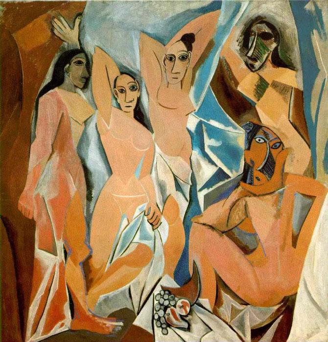 ピカソ「アヴィニョンの娘たち」(1907年)