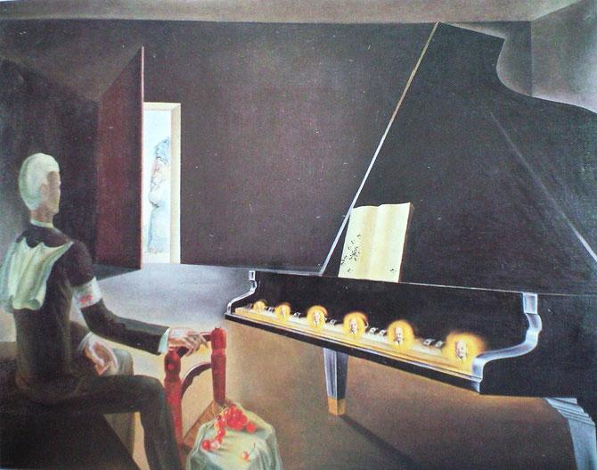 「部分的幻覚-ピアノの上に出現したレーニンの6つの幻影」(1931年)