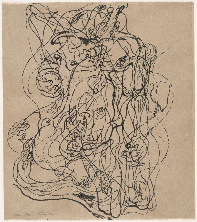 アンドレ・マッソン「オートマティック・ドローイング」(1924年)