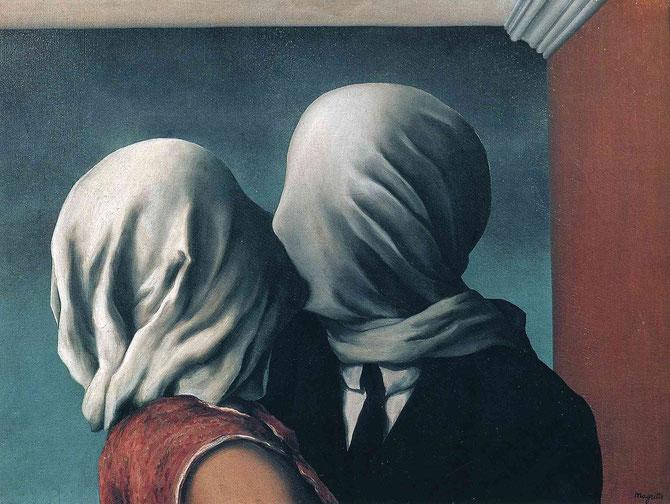 ルネ・マグリット「恋人たち」(1928年)