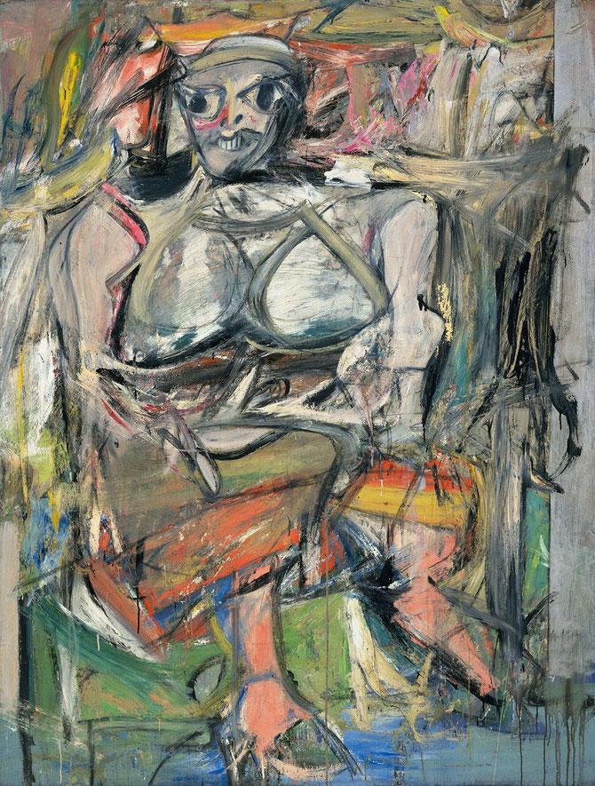 ヴィレム・デ・クーニング「女」(1950-52年)