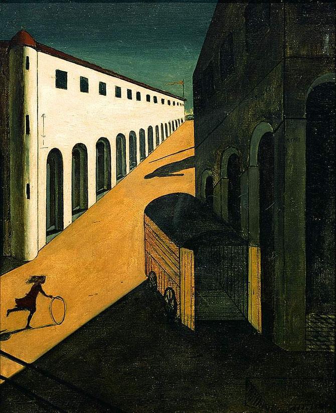 ジョルジョ・デ・キリコ「通りの神秘と憂愁」(1914年)