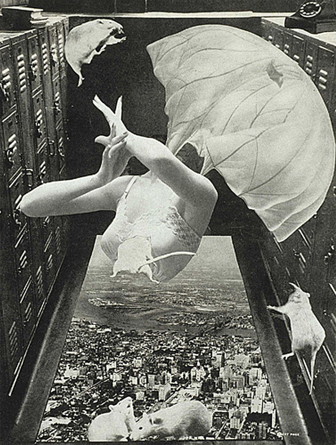 「落下する淑子」(1956年)