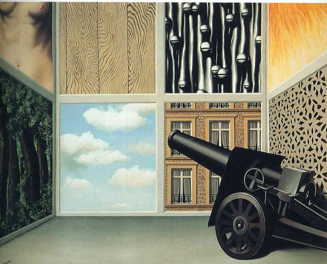 ルネ・マグリット「自由の扉で」(1929年)