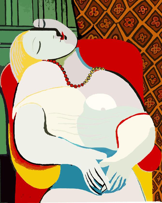 パブロ・ピカソ「夢」(1932年)
