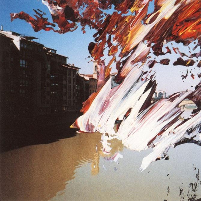 『Firenze』(2000年)/ 写真の上に絵具を塗る「オーバー・ペインティング」。