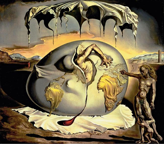サルバドール・ダリ「新人類の誕生を見つめる地政学の子ども」(1943年)