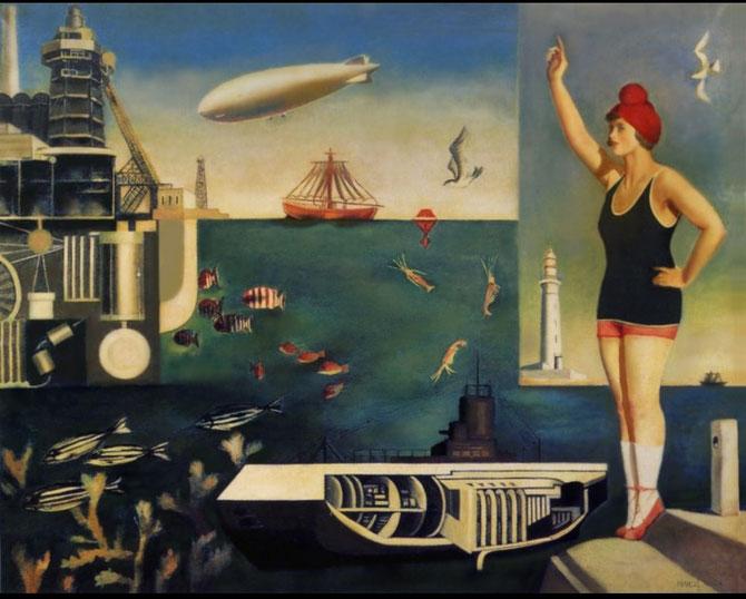 古賀春江「海」(1929年)