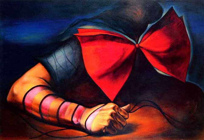 岡本太郎「傷ましき腕」(1938年)