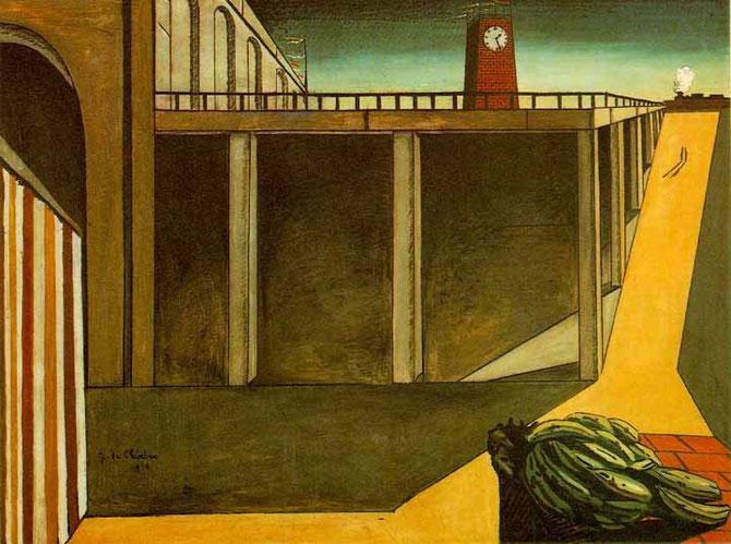 ジョルジョ・デ・キリコ「モンパルナスの謎」(1914年)