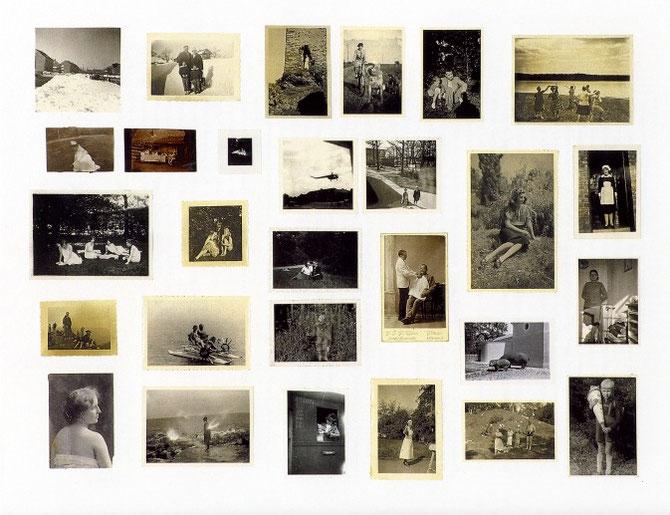 『Albumfotos』(1962年) / 写真や雑誌や新聞の切り抜きを壁に貼り付けていく「アトラス」。