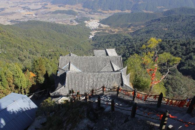 Kloster in 3005m Höhe, auf dem Gipfel des Yunfeng Shan