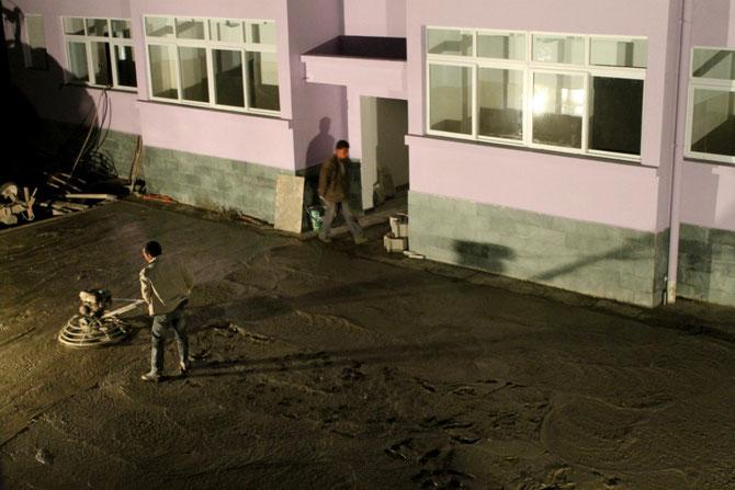Bauarbeiten vor meinem Fenster