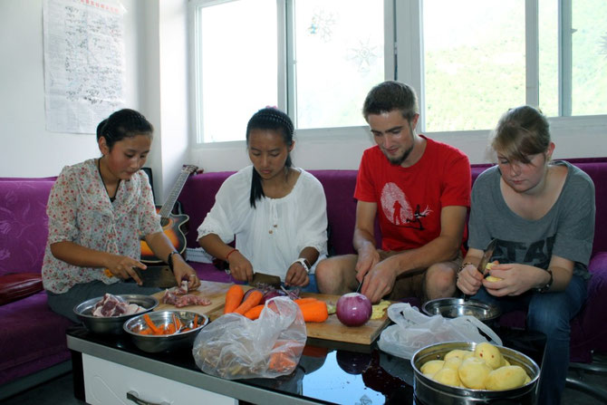 Kochen mit den Senior 3 Schülern