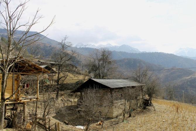 Baihanluo hoch auf einem Berg