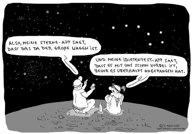 "Cartoon ""Nächtliche Romantik"""