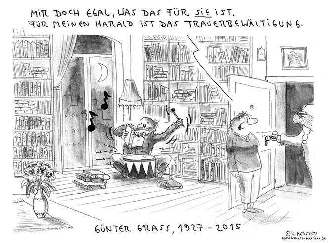 tagesaktueller Cartoon zur Trauerbewältigung des kleinen Harald