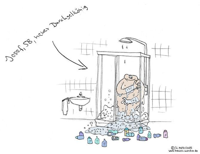 "Cartoon ""Duschgelkönig"