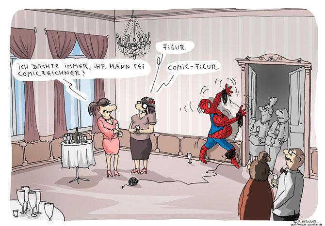 Cartoon: Comiczeichner oder Comicfigur?
