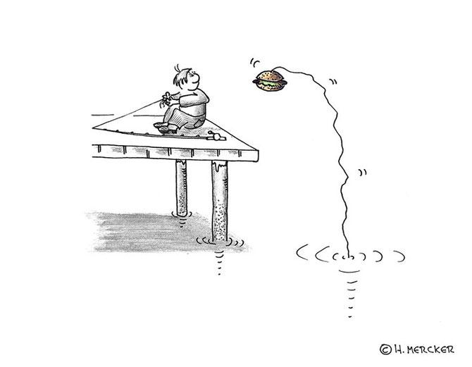 """Cartoon """"Netter Versuch der Gegenseite"""""""