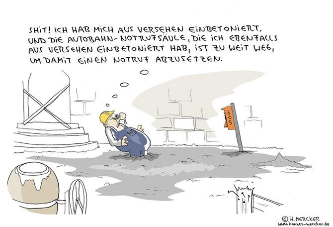 """Cartoon """"Blöder Fehler"""""""