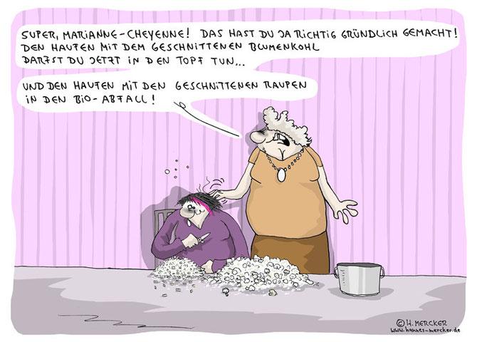 """Cartoon """"Schneiden"""""""