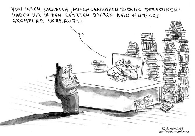 "Cartoon ""Auflagenhöhen"""
