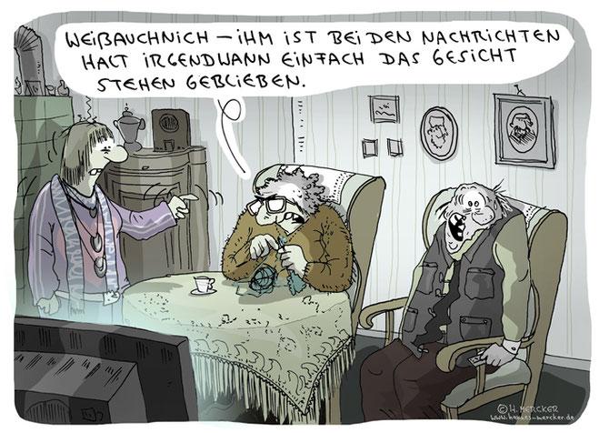 tagesaktueller Cartoon von H. Mercker zum Thema Nachrichten, Juli 2016.
