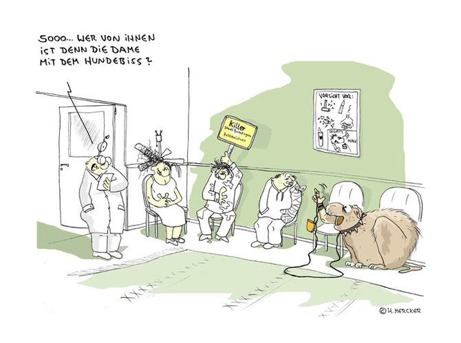 Arzt, Wartezimmer, Hund, Arm, Dame