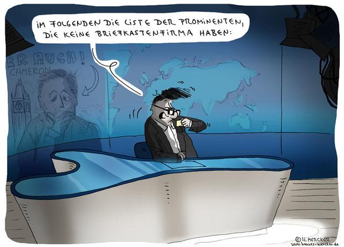tagesaktueller Cartoon zum Panama Papers-Skandal