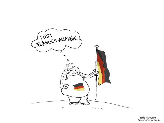 """Cartoon """"Eine Feststellung"""""""