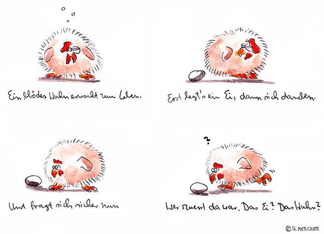 """Bildgeschichte """"Auch nur wieder ein blödes Huhn"""""""