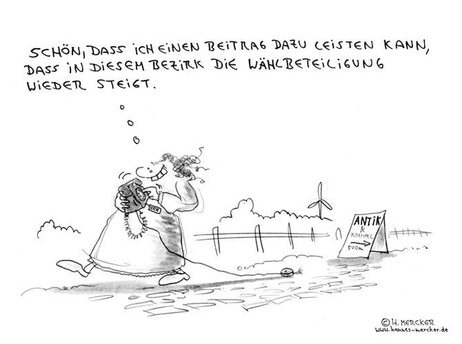 """Cartoon """"Ein guter Beitrag"""""""