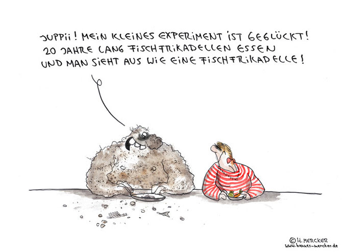 "Cartoon ""Fischfrikadelle"""